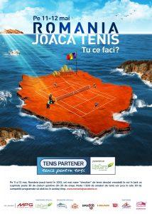 Afis Romania joaca tenis!