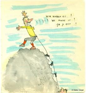 Una dintre cele peste 7.000 de caricaturi marca Walter Kargel
