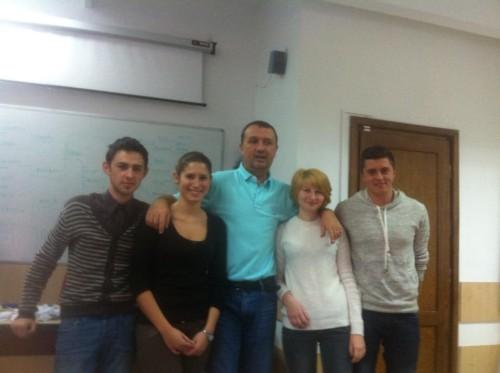 Alexandru Pop (campionul), Oana Sabău, Cristina Melnic (finalista), Claudiu Rus, patru studenți pasionați de jurnalismul sportiv