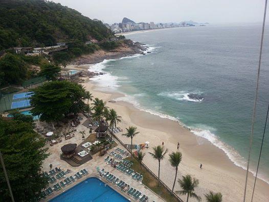 Așa se vede o parte din Rio de Janeiro din camera de hotel a lui Florin Mergea