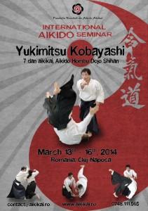 Afis Aikido Kobayashi Sensei martie 2014