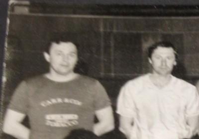 Nelu Cenan (stînga) și Liviu Cenan (dreapta), frații...noștri.  Foto. arhiva personală