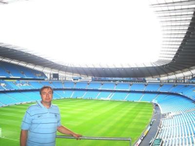 Prima vizită pe stadionul echipei iubite, în 2006.  Foto: arhiva personală a domnului Sîrbulescu