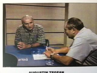 Augustin Țegean, într-un interviu luat de Ionel Banu pentru TVR (cred că a vorbit și despre fotbalul nostru...) Foto: arhiva Ionel Banu