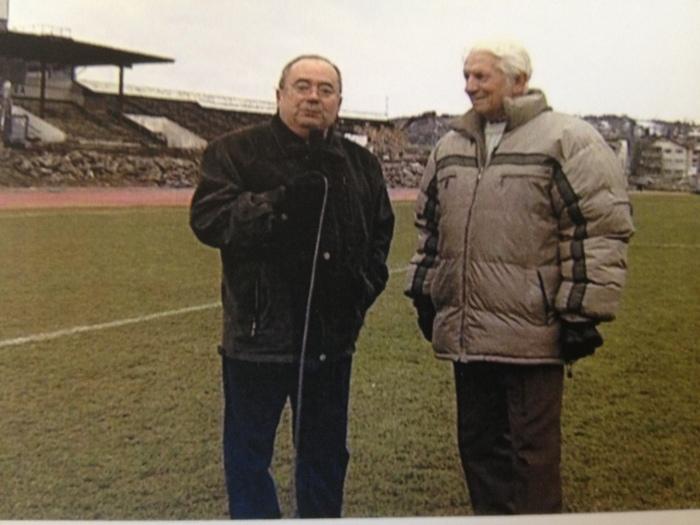 Ionel Banu alături de Remus Cîmpeanu, în ultima zi de viață a stadionului Ion Moina