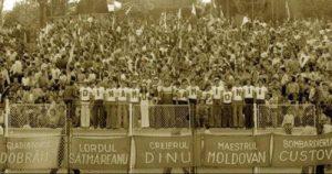 Inventivitatea suporterilor de la Dinamo, în anul 1977.