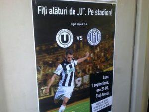 Afișele cu U Cluj se printează la Colorama