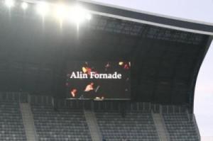 Un jurnalist pe ecranul unui stadion, asta e ceva mai puțin obișnuit, nu?