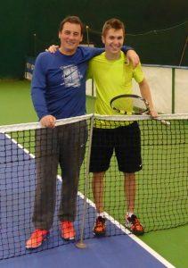 Patrick Ciorcilă și Andrei Pavel. Foto: winners tennis club cluj