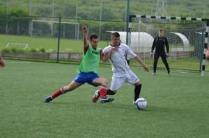 Fază de joc din meciul Avram Iancu - Tehnofrig (autor foto: Laura Mureșan)