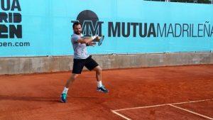 Florin Mergea, la antrenament.  Sursa foto: pagina facebook Daniel Tudorache