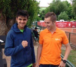 Dragoș Dima (stînga), alături de Patrick Ciorcilă, și-a valorificat din plin pînă acum wild-card-ul primit din partea organizatorilor