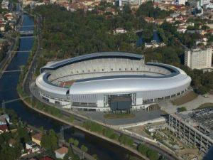 Stadionul (pe vremea cînd Sala Polivalentă era încă în construcție).  Foto: ziuadecj.realitatea.net