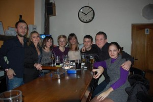 Sorin, la locul faptei, la Caffe del Angolo, cu prieteni buni.