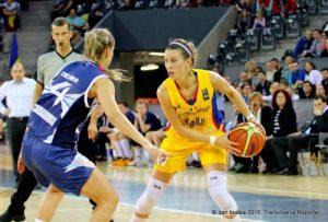 Gabriela Mărginean, la meciul cu Bosnia. Foto: Dan Bodea, Transilvania Reporter