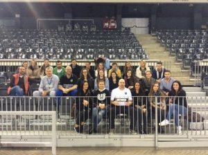 Echipa de jurnalism sportiv, alături de antrenorii de la U BT