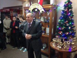 Președintele Gheorghe Căpraru, felicitîndu-și sportivii la final de an