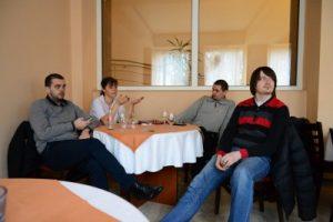 Rus, Raimonda, Miclăuș și Tebu, foarte absorbiți de discuție...