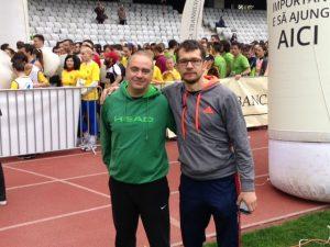 Horațiu Morar (dreapta) și Răzvan Itu (vicepreședintle Federației Române de Tenis).