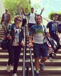 Daiana și Florin Mergea, imediat după victoria de azi. Foto: pagina de facebook Daiana Mergea