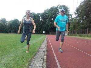Mihaela Botezan și Vasile Cipcigan trag tare la antrenamente.