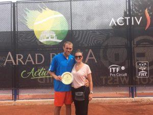 Alex Luncanu, campion la Arad.  Sursa foto: Andreea Bianca Clipa