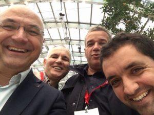 Dan Moldovan – Director Comercial, Doru Abrudan – Presedinte CA,si Lucian Andrei – Director la Colorama – Centrul de Imprimare al Roxer Grup Cluj, Ionut Pop – Account Manager