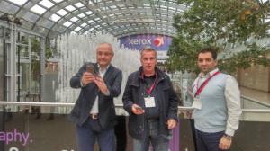 Dan Moldovan, Doru Abrudan si Ionut Pop, in fata siglei Xerox