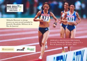 Mihaela Botezan, cea care a participat și la Jocurile Mondiale Militare