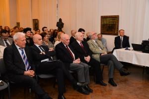 Prof.dr. Marius Bojiță, prof. dr. Ștefan Florian, Acad. Emil Burzo, Acad. Ionel Haiduc, poetul Horia Bădescu. Foto: Lidia Șandor
