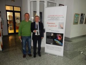 Cu fostul meu coleg, într-un moment foarte important pentru el și onorant pentru mine. Foto: Victor Cenușe