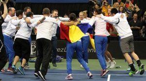 Bucurie fără margini după victoria cu Canada.  Foto: Arturo Velazquez Sursa foto: www.fedcup.com