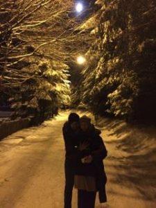 Florin și Daiana Mergea au prins acum două săptămîni zăpadă în Poiana Brașov. Acum o așteaptă pe următoarea, ce se anunță a veni curînd...